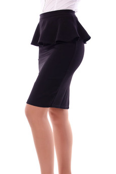 Черная юбка с баской Angela Ricci