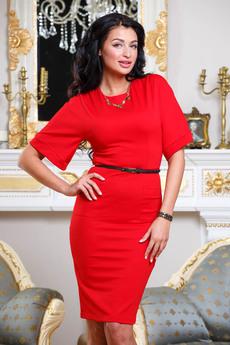 Строгое красное платье Angela Ricci