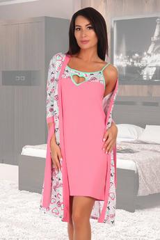 Комплект: халат и сорочка Натали