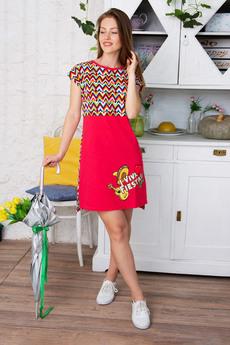 Красное домашнее платье Красная Ветка