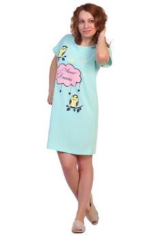 Ментоловая футболка-сорочка ElenaTex