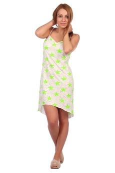 Сорочка с зелеными звездами ElenaTex