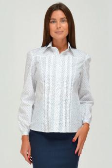 Белая хлопковая блузка с длинным рукавом Viserdi