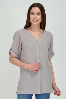 Серая хлопковая блуза Viserdi