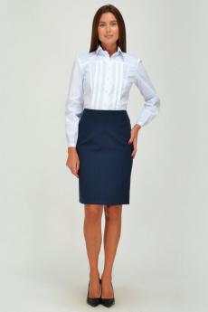 Темно-синяя прямая юбка  Viserdi
